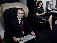 Rachel Weisz and Willie Walsh in BA First Class by Lorenzo Agius @ Getty